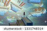2d illustration. abstract... | Shutterstock . vector #1331748314