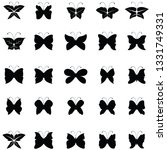 butterfly icon set | Shutterstock .eps vector #1331749331