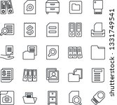 thin line icon set   office...   Shutterstock .eps vector #1331749541