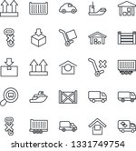 thin line icon set   sea...   Shutterstock .eps vector #1331749754