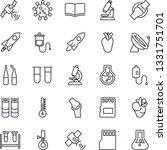 thin line icon set   satellite...   Shutterstock .eps vector #1331751701
