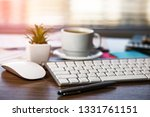 accounting. items for doing... | Shutterstock . vector #1331761151
