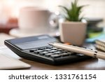 accounting. items for doing... | Shutterstock . vector #1331761154