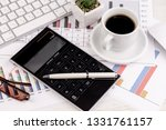 accounting. items for doing... | Shutterstock . vector #1331761157