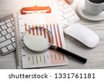 accounting. items for doing... | Shutterstock . vector #1331761181