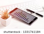 accounting. items for doing... | Shutterstock . vector #1331761184