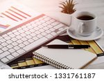 accounting. items for doing... | Shutterstock . vector #1331761187