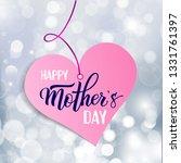original hand lettering happy... | Shutterstock .eps vector #1331761397