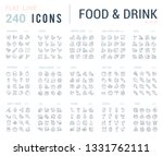 big collection of linear icons. ... | Shutterstock .eps vector #1331762111
