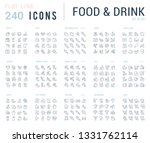 big collection of linear icons. ... | Shutterstock .eps vector #1331762114