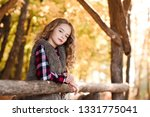 blonde tee girl resting at... | Shutterstock . vector #1331775041