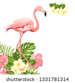 beautiful tropical image with... | Shutterstock .eps vector #1331781314