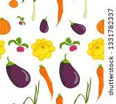vector seamless vegetable... | Shutterstock .eps vector #1331782337