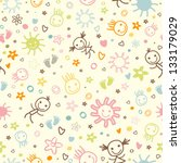 baby seamless pattern with cute ...