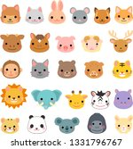 various animal face set   Shutterstock .eps vector #1331796767