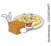 with box scrambled egg in the... | Shutterstock .eps vector #1331823497