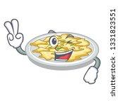 two finger scrambled egg in the ... | Shutterstock .eps vector #1331823551