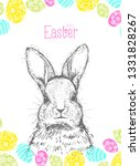 hand drawn easter card with... | Shutterstock .eps vector #1331828267