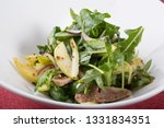 green arugula salad with beef... | Shutterstock . vector #1331834351
