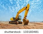 Excavator Loader Machine Durin...