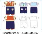 vector boy romper | Shutterstock .eps vector #1331836757