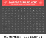 140 food thin line icons set.... | Shutterstock .eps vector #1331838431