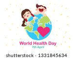 world health day conceptual... | Shutterstock .eps vector #1331845634