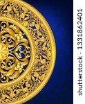 gold baroque ornament template... | Shutterstock .eps vector #1331862401