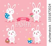 happy easter background with... | Shutterstock . vector #1331873024
