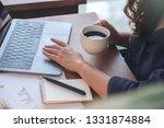 closeup image of a woman... | Shutterstock . vector #1331874884