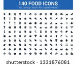 140 food line icons set. vector ... | Shutterstock .eps vector #1331876081