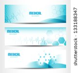 three medical banners for web... | Shutterstock .eps vector #133188347