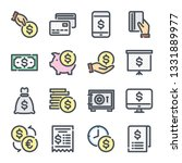 money related color line icon...