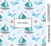 cute marine life doodle... | Shutterstock .eps vector #1331900507
