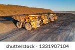 coal mining truck | Shutterstock . vector #1331907104