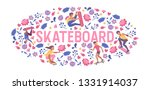 skateboarders on skateboard... | Shutterstock .eps vector #1331914037
