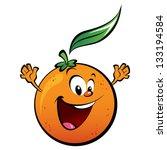 A Happy Orange Waving Its Hands