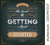 vintage calligraphic motivation ... | Shutterstock .eps vector #1331947217