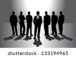 Group Of Businessmen Against...
