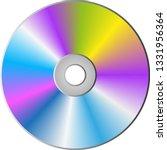 cd dvd disc isolated on... | Shutterstock .eps vector #1331956364