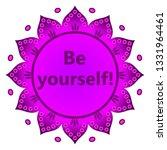banner mandala with quotation ...   Shutterstock .eps vector #1331964461