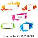 set of bright grunge... | Shutterstock .eps vector #133198001