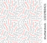pattern with lettering of... | Shutterstock .eps vector #1331983421