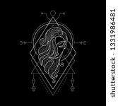zodiac virgo geometric style... | Shutterstock .eps vector #1331986481