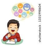 illustration of a kid boy... | Shutterstock .eps vector #1331998604