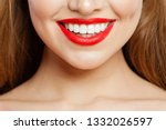 Red Makeup Lips With Trendy...