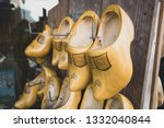 Yellow Dutch Wooden Clogs Hang...