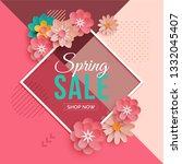diamond frame spring sale... | Shutterstock .eps vector #1332045407