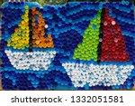 Sailboats Mosaic Decoration...
