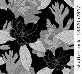 beautiful seamless floral... | Shutterstock . vector #1332052847